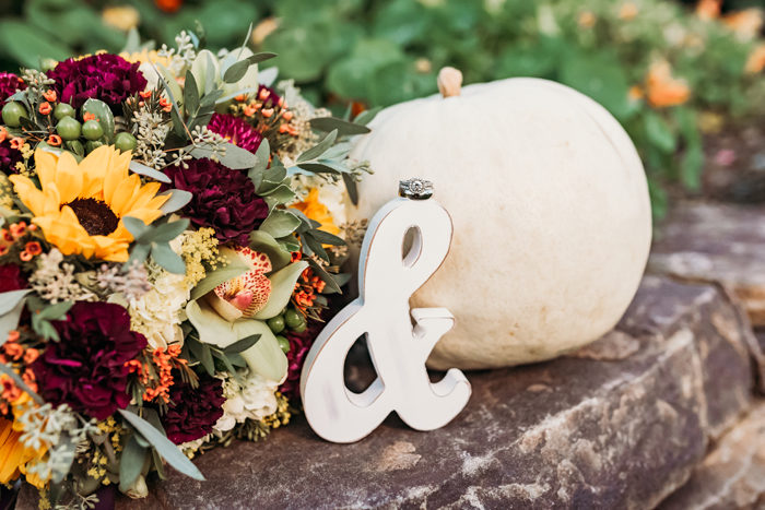 Wedding Pumpking Decor | Jadie Foto | As seen on TodaysBride.com