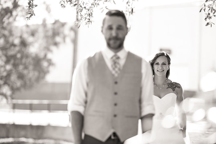 Bride and Groom First Look | Jodi Hutton Photography | As seen on TodaysBride.com