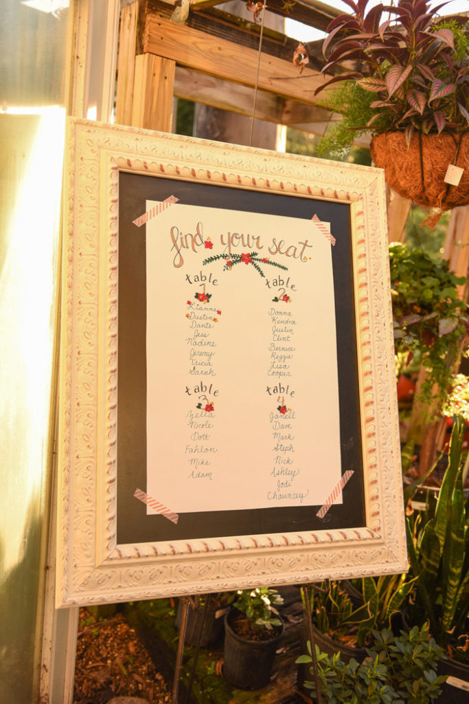 Seating Chart | Jodi Hutton Photography | As seen on TodaysBride.com