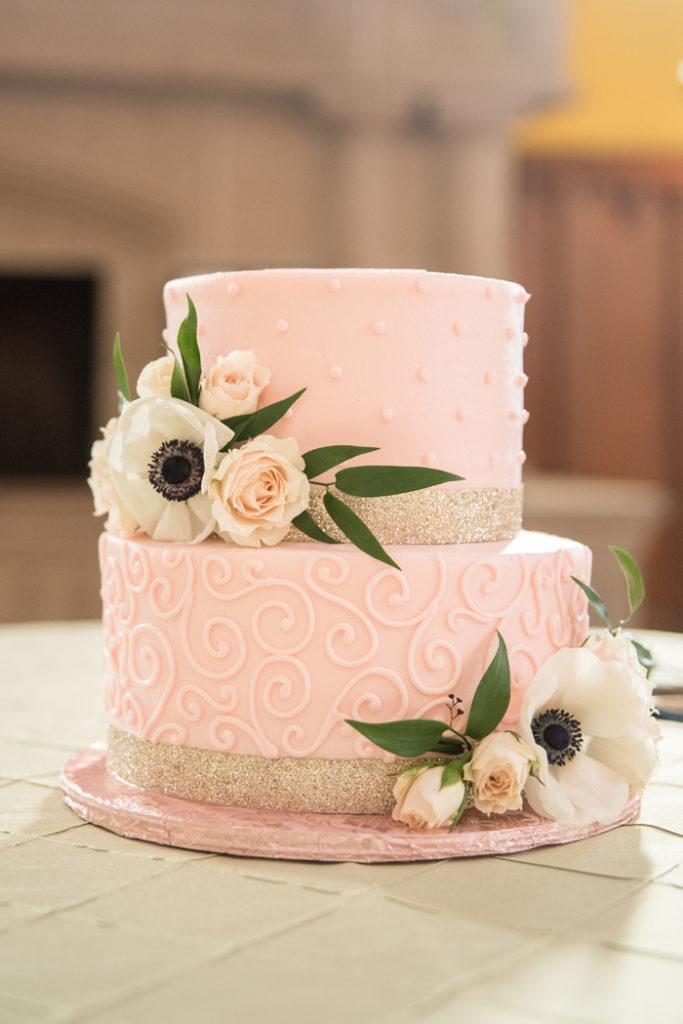 Blush Wedding Cake   Sabrina Hall Photography   As seen on TodaysBride.com