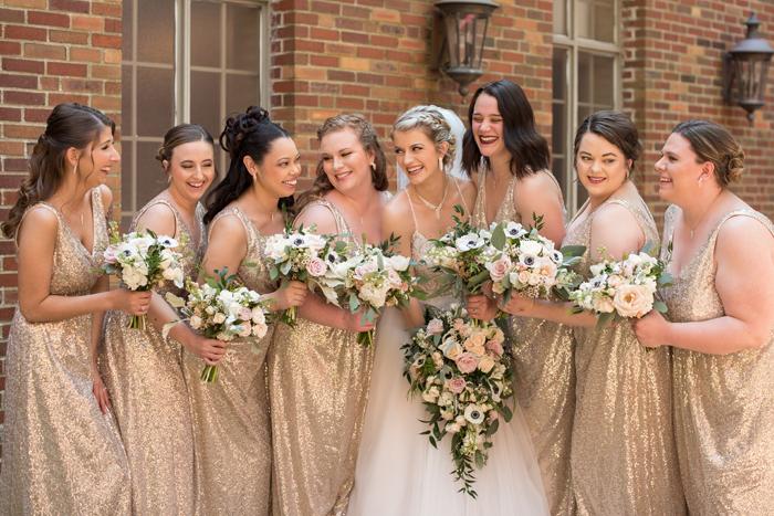 Bride and Bridesmaids   Sabrina Hall Photography   As seen on TodaysBride.com