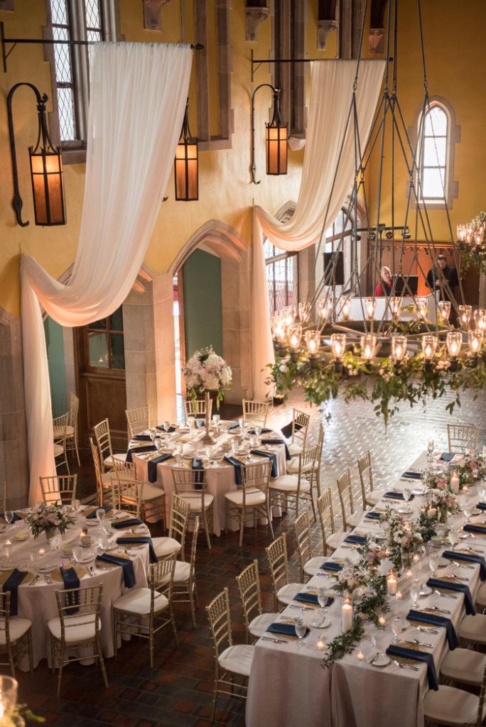 Glenmoor Country Club set up for a wedding   Sabrina Hall Photography   As seen on TodaysBride.com