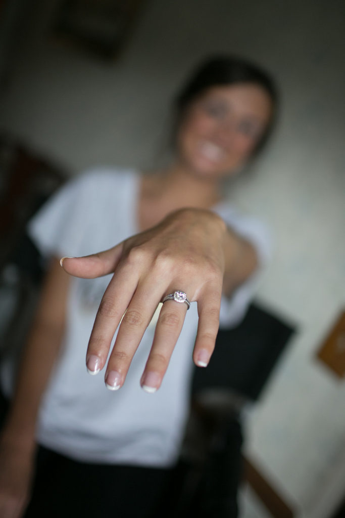 Bride showing off Engagement Ring | BCR Studios by Brad | As seen on TodaysBride.com