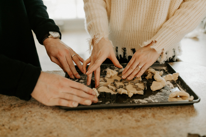 Married Couple Baking together | As seen on TodaysBride.com