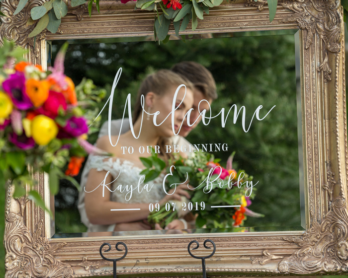 Welcome Wedding Sign | Walnut Ridge Leather Co. | OH Snap! Photography | As seen on TodaysBride.com
