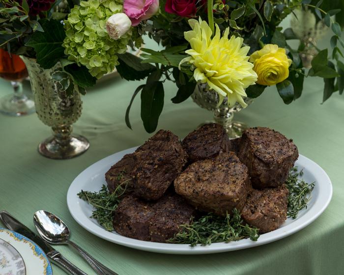 Steak Dinner | OH Snap! Photography | As seen on TodaysBride.com