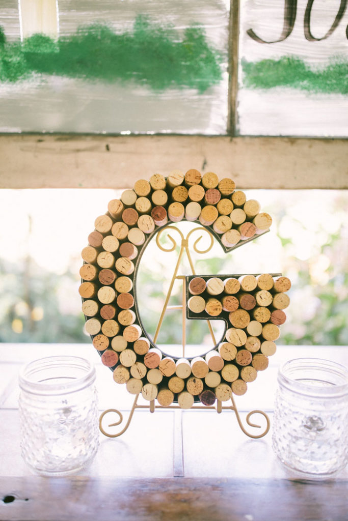 Wine Cork Letter | too much awesomeness | As seen on TodaysBride.com