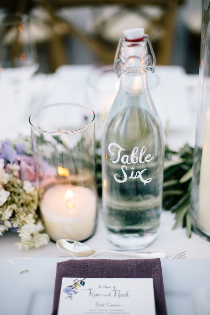 Wine Bottle Table Number | Docutivae | As seen on TodaysBride.com