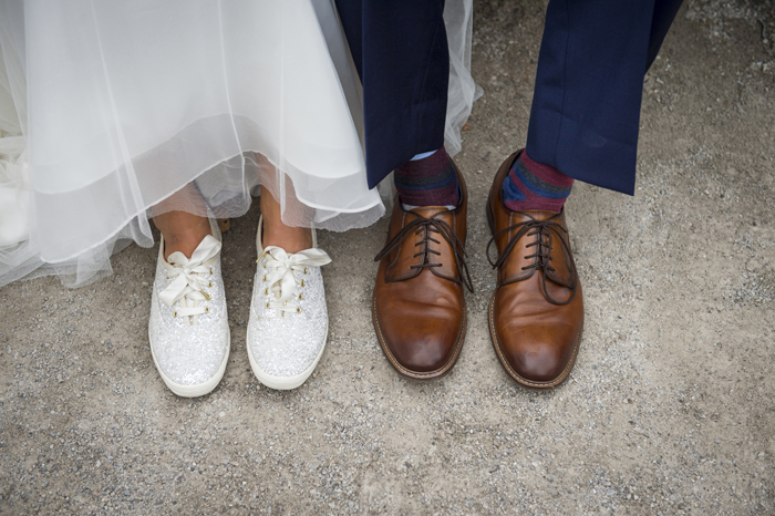Bride and Groom's Shoes | Rising Star Photography | As seen on TodaysBride.com