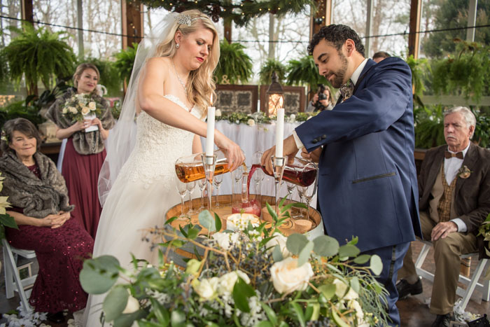 Wine Wedding Ceremony | Sabrina Hall Photography | As seen on TodaysBride.com