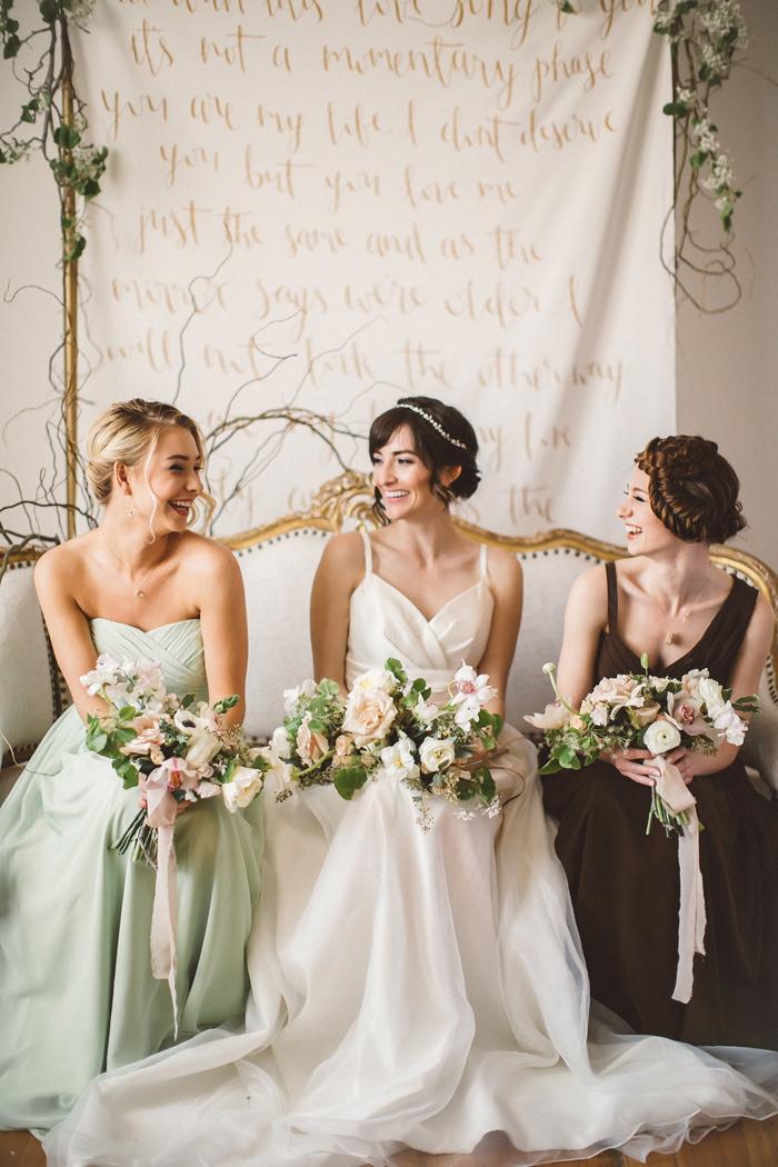 Bride and Bridesmaids | Alicia Lucia Photography | As seen on TodaysBride.com