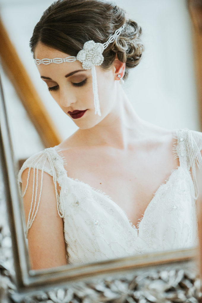 1920s Headpiece | Ally Allison Photography |  As seen on TodaysBride.com