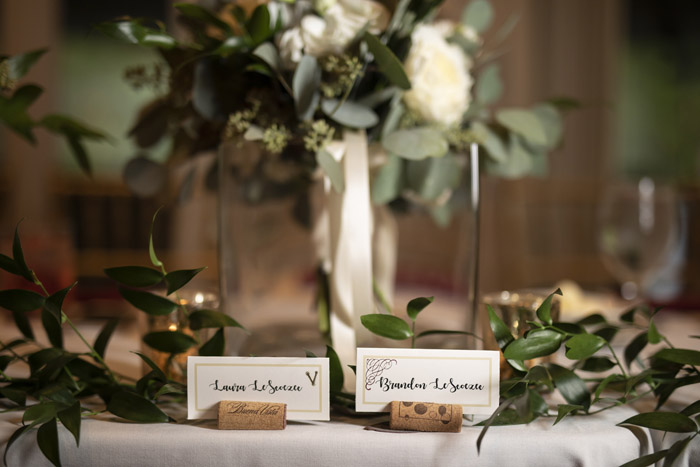 Cork Escort Cards | B Frohman Imaging + Design | As seen on TodaysBride.com