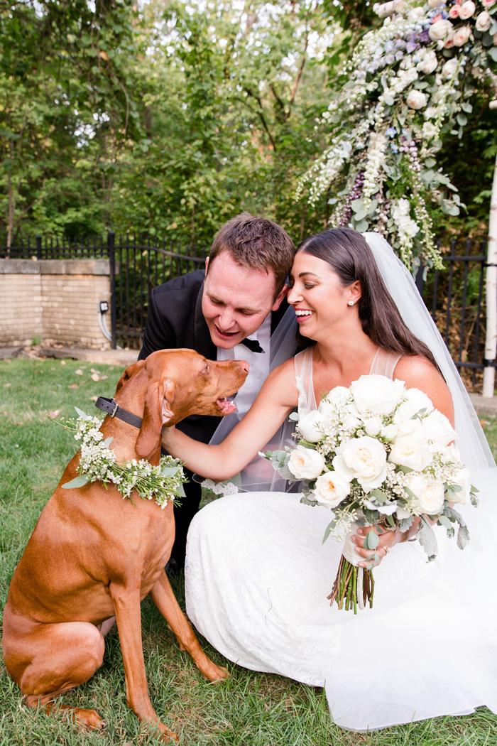 Dog in wedding | Danielle Harris Photography | As seen on TodaysBride.com