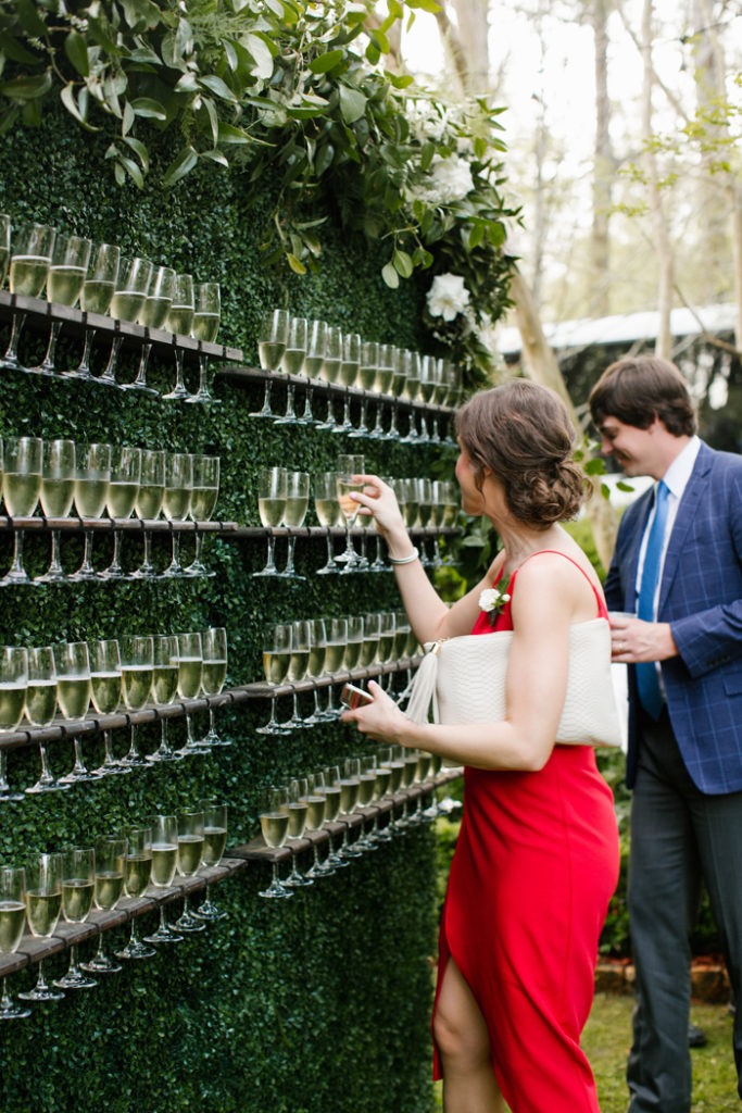 Champagne Wall | Erin Mccall Photography | As seen on TodaysBride.com