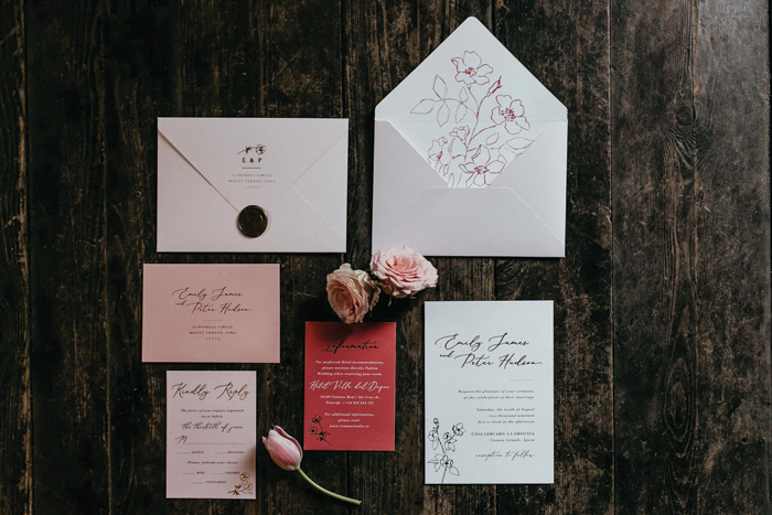 Wedding Invitation Suite | Fred Bolge Lux | As seen on TodaysBride.com
