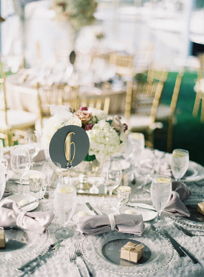 Art Deco Table Number | Michael and Carina Photography | As seen on TodaysBride.com