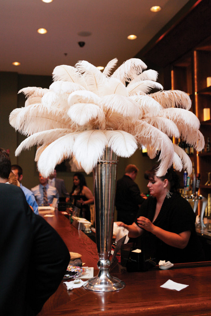 Feather Centerpiece | L Photographie | As seen on TodaysBride.com