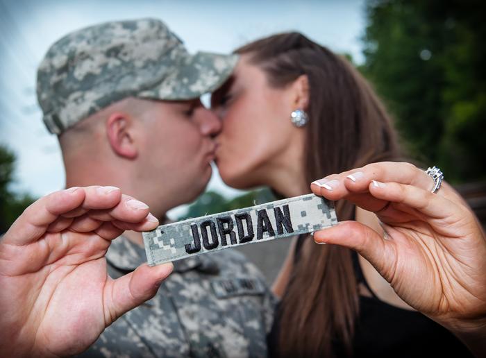 Military Couple | John Paul Stuios | As seen on TodaysBride.com