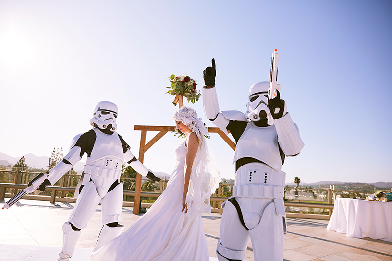 Bride and Stormtroopers | Stephany Perea | As seen on TodaysBride.com