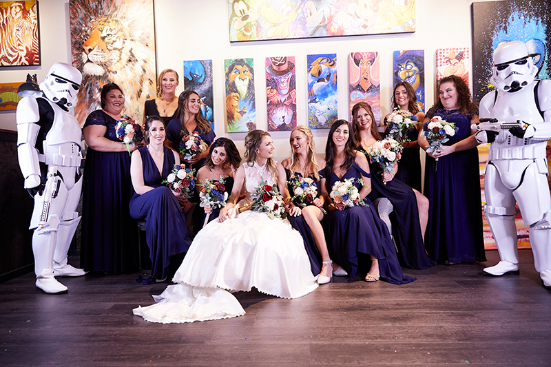 Bridal Party and Stormtroopers | Stephany Perea | As seen on TodaysBride.com