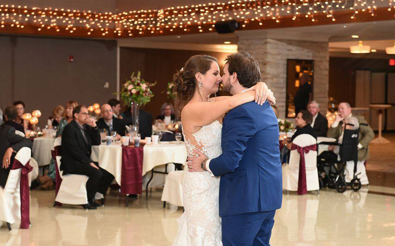 Couple dancing at St. Nicholas Banquet Center | as seen on TodaysBride.com