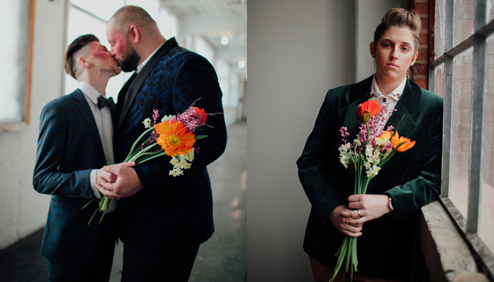 Add Pride to your Wedding Flowers | Heart in Hand Portraits | as seen on TodaysBride.com