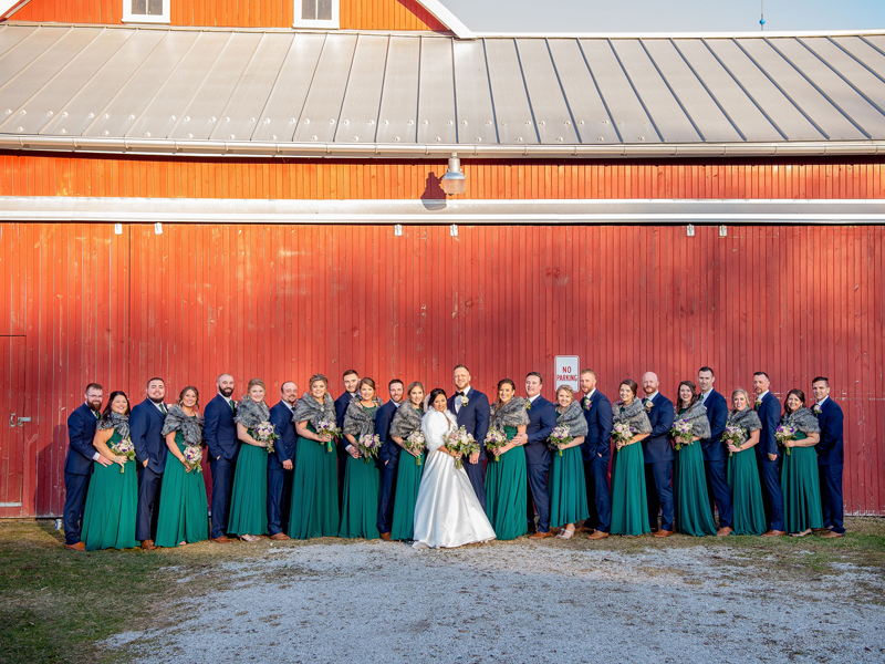 Romantic Winter Wedding Party | Klodt Photography | as seen on TodaysBride.com