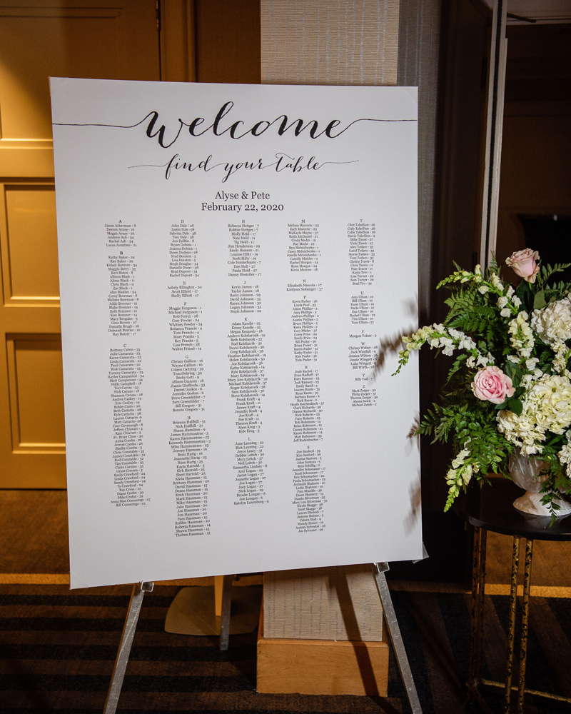 Table Placement Sign | Klodt Photography | as seen on TodaysBride.com