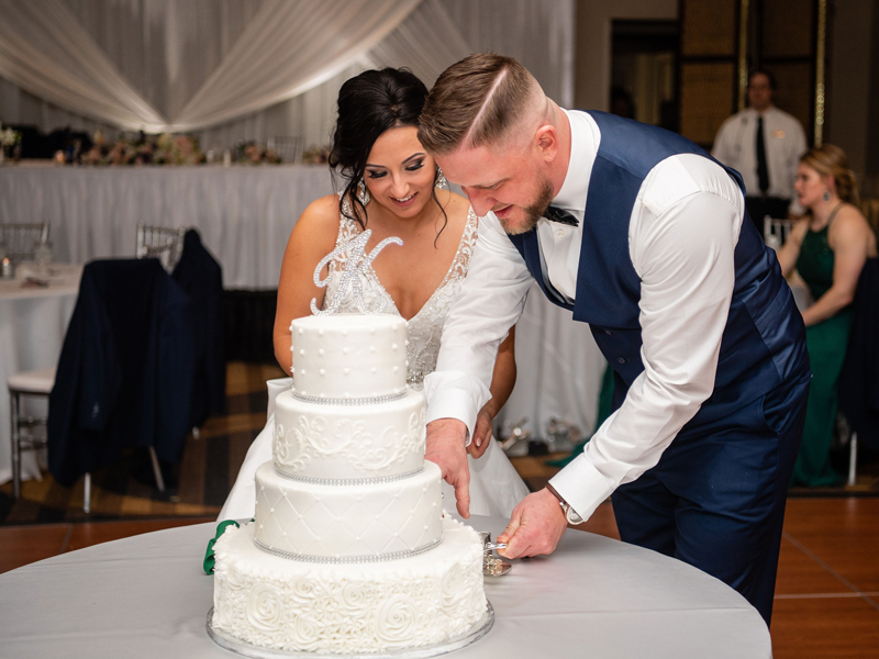 Cutting Wedding Cake | Klodt Photography | as seen on TodaysBride.com