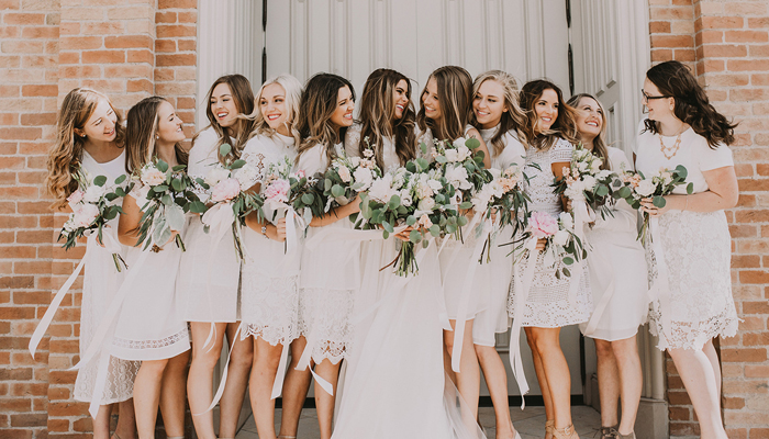 All White Bridal party | India Early Photography | as seen on TodaysBride.com