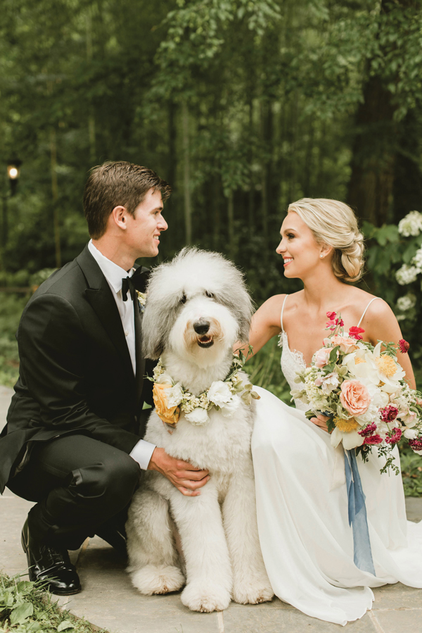 Shelby Rae Photographs | Bride and Groom with Dog | As seen on TodaysBride.com