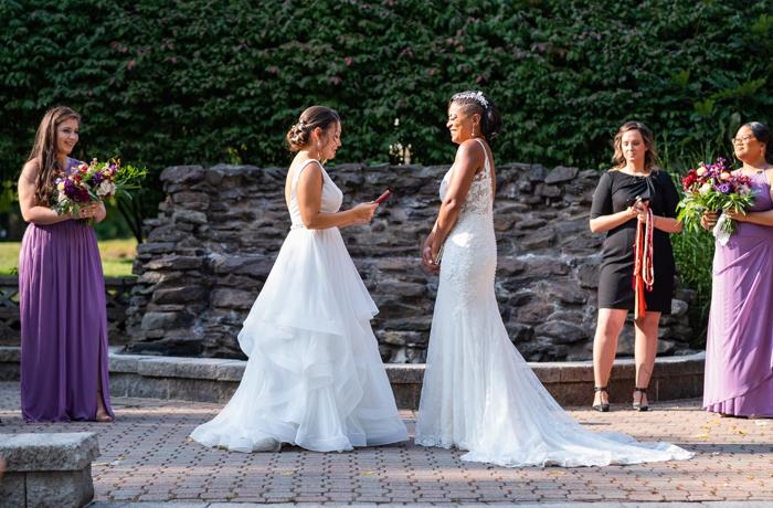 Melissa and Kim's wedding ceremony